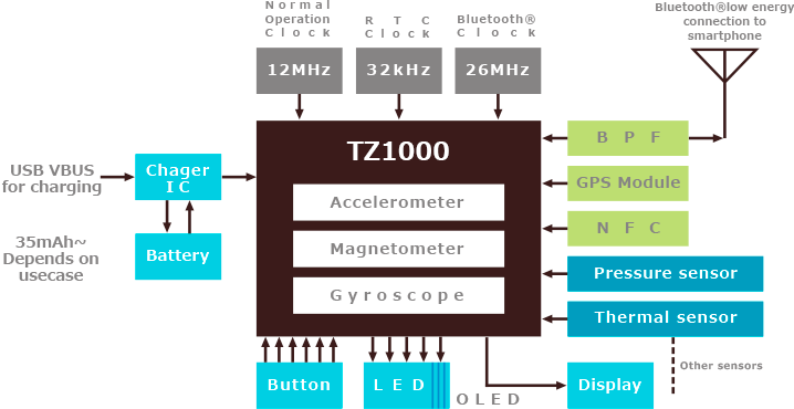 ApP Lite TZ1000 Block Diagram